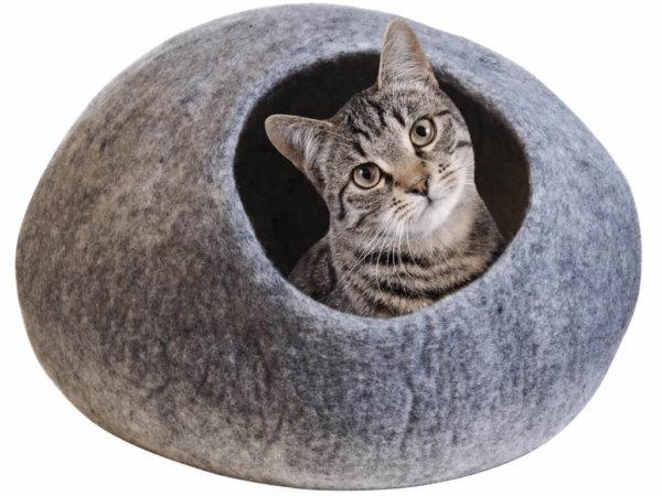 Katzenhöhle aus Filz, Kuschelhöhle für Haustiere